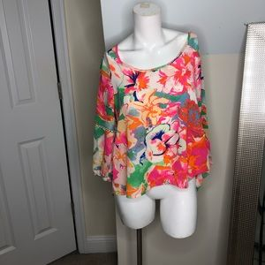 Floral bright blouse